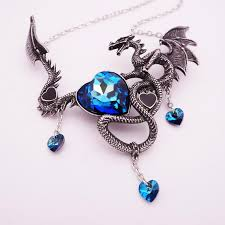 real crystal necklace images Crystal heart charms dragon choker the dragon 39 s throne jpg