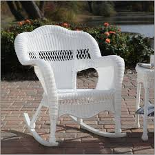 Outdoor Vinyl Rocking Chairs Outdoor White Wicker Rocking Chair Chairs Home Decorating
