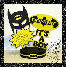 batman baby shower decorations glitter magic party batman centerpiece personalized with name