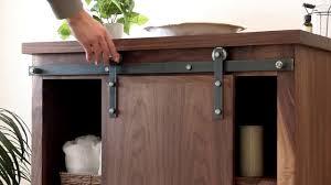 cabinet barn door hardware artisan hardware cabinet barn door hardware youtube