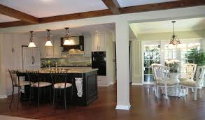 Two Tone Wood Floor Light Kitchen Cabinets With Dark Wood Floors Nice Home Design