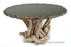 custom round dining tables rustic dining tables log furniture unique custom tables unique round
