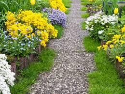 a colorful garden path
