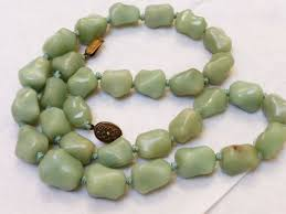 jade beads necklace images Chinese green jade bead necklace ebay jpg