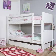 White Bunk Bed With Trundle Jango Children S Bunk Bed With Trundle Bed White