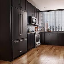 kitchenaid cabinet depth refrigerator kitchenaid krfc302ebs 22 cu ft 36 inch width counter depth french