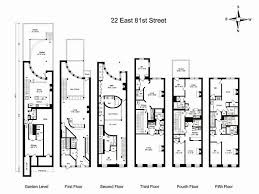 Brooklyn Brownstone Floor Plans 22 East 81st Street Asking 15 950 000 Floor Plan Architecture