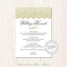 menu templates for weddings 68 best wedding menu cards images on brunch menu