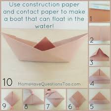How To Make Boat From Paper - origami boat and pirate ship craft