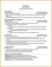 cv resume sample undergraduate high professional resumes