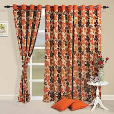 Contemporary Orange Curtains Designs Rust Orange Sprinkle Curtains Escape To The Magical World Of