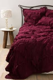 Wine Colored Bedding Sets Nip Anthropologie Rivulets Quilt W 2 Shams Wine