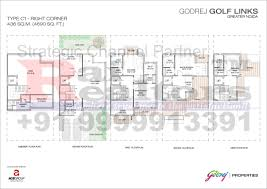 Rightcorner Site Plan Floor Plans Godrej Properties Golf Links 9999913391