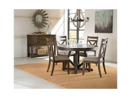 standard furniture carter round dining table with zinc insert