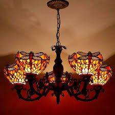 Tiffany Chandelier Lamps Dragonfly Grand Chandelier The Tiffany Lighting Company
