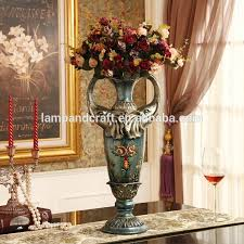 Flower Vase Painting Ideas Europe Types Of Flower Vase With Blue Painting Design Bronze Stand