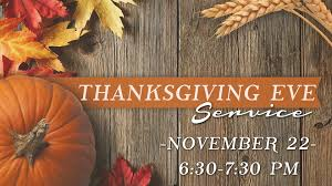 thanksgiving service pacific calvary chapel