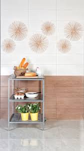an ideas for your kitchen corner wall tiles using cozy brown