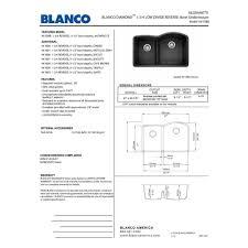Blanco 440180 by Blanco 441603 Diamond White Undermount Double Bowl Kitchen Sinks
