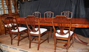regency dining set table chair suite 8 shieldback chairs ebay