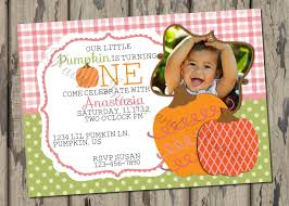 birthday invites amazing pumpkin first birthday invitations ideas