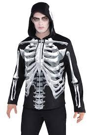 Halloween Skeleton Top by Christys Dress Up Mens Black And Bone Skeleton Print Zip Up Hoodie