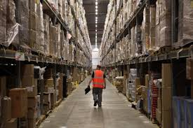 the inside of amazon u0027s warehouses are a busy hive of workers and