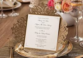 2017 wedding invitations gold paper blank inner sheet laser