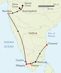 Chennai India Map by South India Private Journey Itinerary U0026 Map Wilderness Travel