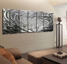 ripple effect xl silver abstract corporate metal wall art decor