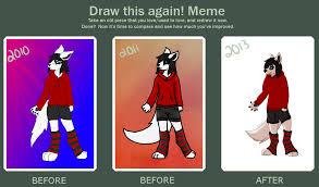Draw This Again Meme Template - draw this again anthro chelly fox by mufflns on deviantart