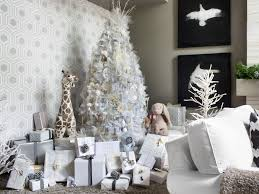 baby nursery good looking decorated white christmas trees