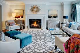 Round Teal Rug Family Room Contemporary With Arm Chairs Bolt - Chairs for family room