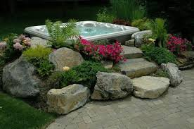 Backyard Makeover Ideas On A Budget Hot Tub Landscaping For The Beginner On A Budget Hot Tubs Tubs