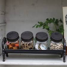 black canisters for kitchen kitchen accessories two clear glass decorative canisters kitchen