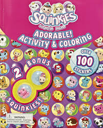 squinkies adorable activity u0026 coloring book with over 100