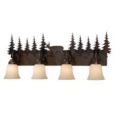 7 Light Bathroom Fixture by Rustic Vanity Lighting U0026 Cabin Bathroom Lights