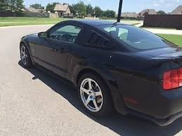 Black 2007 Mustang Up For Sale Is A 2007 Ford Mustang Roush Stage 3 Black Like New