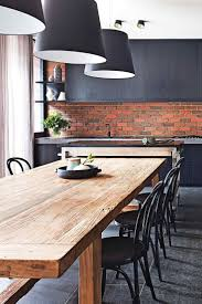 best 25 exposed brick kitchen ideas on pinterest brick wall dining wooden dining tables wonderful victor dining tables best