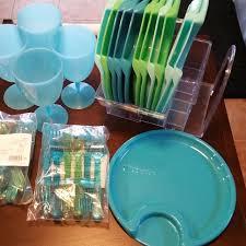 plastic ware best pered chef picnic set 12 plates plastic ware storage