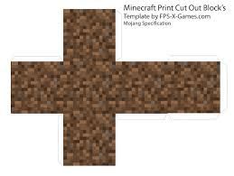 minecraft cube u0027s printable cut out block u0027s fpsx games kids