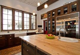 commercial kitchen in mountain home rustic kitchen denver