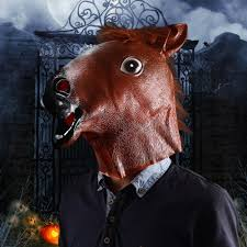 halloween horse funny real horse head halloween party mask in party masks from
