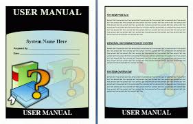 free manual template word free guide templates word exle template section