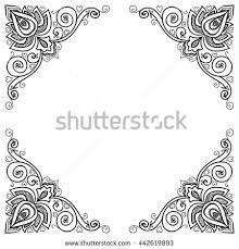 vector indian floral ornament border mandala stock vector 442619893