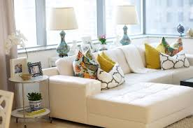 White Leather Sofa Sectional White Leather Sectional Eclectic Living Room Caitlin Wilson