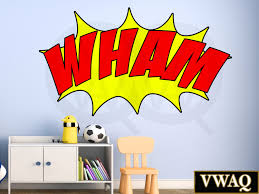 find trendy wall decals vwaq com comic book wham wall decal sound effect wall art superhero vinyl wall decal kids room decor