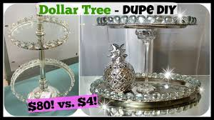 Diy Home Decor by Dollar Tree Diy Home Decor Dupe 2 Tiered Tray Stand Glam Easy