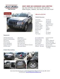 auto action fleet special buy for sale 2007 jeep grand cherokee