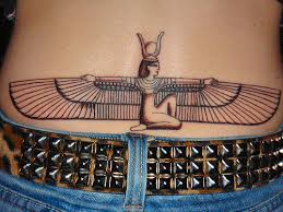 egyptian goddess tattoo design on lower back in 2017 real photo